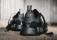 Built in Adidas' sturdy silhouette and BOOST tech cushioning, the Adidas 'Japan' comes in a black-out colorway and a dynamic look. Adidas Nmd R1, Adidas Sneakers, Japanese Branding, Comfort Design, Fresh Kicks, Bags, Handbags, Taschen, Purse