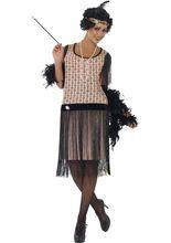 20er Charleston Can Can Jazz Damenkostüm Fransen schwarz-rosa, aus unserer Kategorie 20er & 30er Jahre Partys. Diese 20er Jahre Diva wickelt jeden Mann spielend leicht um den kleinen Finger. Wenn sie ihre Zigarettenspitze aus der Handtasche holt, steht schon ein Dutzend Verehrer parat, um ihr Feuer anzubieten. Ein sensationelles Kostüm für Karneval und 20er Jahre Partys.