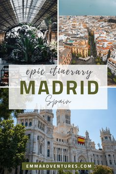 The most epic 3 day Madrid Itinerary to make sure you experience everything the Spanish capital has to offer, including museums and amazing food! Europe Destinations, Europe Travel Tips, European Travel, Travel Guides, Italy Travel, Croatia Travel, Travel List, Greece Travel, Hawaii Travel