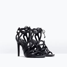 Image 2 of HIGH HEELED WRAPAROUND INTERLACED SANDALS from Zara