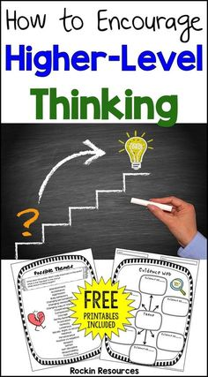 How to Encourage High-Level Thinking - Minds in Bloom Visual Thinking, Thinking Skills, Critical Thinking, Thinking Strategies, Deep Thinking, Creative Thinking, Interactive Writing Notebook, Depth Of Knowledge, Higher Order Thinking