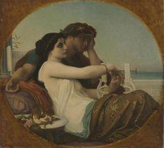 "Alexandre Cabanel ""Aglaé and Boniface"" 1857   Art & Vintage, via Flickr"