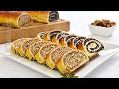 Baigli / Beigli cozonac unguresc (CC Eng Sub) Hungarian Desserts, Romanian Desserts, Romanian Food, No Cook Desserts, Dessert Recipes, Bread And Company, Rome Food, Bread And Pastries, Russian Recipes