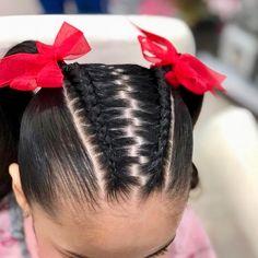 Para las #niñas en #colorin #peluqueria #cucuta siempre los más bellos y sencillos diseños de #trança #tranças #braids #braid #peinadoscolorin #tresse #tresses #treccia #hairstyle #girls Baddie Hairstyles, Pretty Hairstyles, Braided Hairstyles, Little Girls Natural Hairstyles, Natural Hair Styles, Short Hair Styles, Box Braids Styling, Braid Styles, Hair Dos