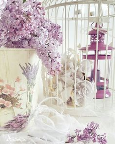 #shabbychic #vintage #shabbychicdecor #shabbychicdecoration #leylak #kafes #fener #flower #fener