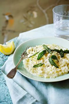 Risotto recipes that will put your wooden spoon to work, from chicken and lemon risotto to wild mushroom risotto and butternut squash risotto. These risotto recipes make the ultimate comfort food. Sage Recipes, Risotto Recipes, Dinner Party Menu, Dinner Party Recipes, Dinner Parties, Vegetarian Recipes, Cooking Recipes, Healthy Recipes, Food Dishes