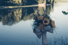 Sunflower and baby's breath bouquet by Flower Dome