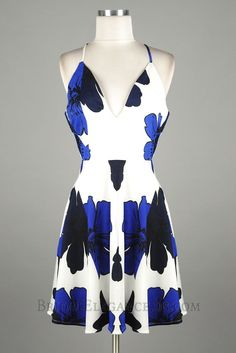 Navy & Royal Blue fit and flare dress $38.00
