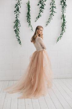 Nude Wedding Dress MELANIE
