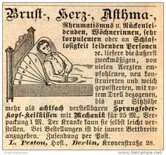 Original-Werbung/Inserat/ Anzeige 1891 - SPRUNGFEDERKOPF-KEILKISSE N/PESTOU BERLIN - ca. 50 x 55 mm
