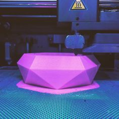 New designs on the machine! Looking great so far what do you think? #3dprinting #3dprint #pink #diamond #planter #style #manufacturing #design #instagood #instadaily #instalike #australianmade #home #garden #3dhubs #minimalism by np_creative