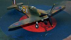 Supermarine Spitfire Mk.1a, P9953, ZP-A, No. 74 Squadron, Sq.-Ldr. D.F. Sailor Malan, RAF Battle of Britain, summer 1940 Supermarine Spitfire, Battle Of Britain, Ldr, Scale Models, Sailor, Fighter Jets, Creative, Summer, Dioramas