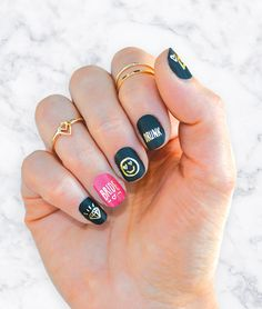 Be the bridesmaid of the year by bringing these bachelorette nail tattoos to the party! These gold temporary tattoos are the perfect bachelorette favor or bride