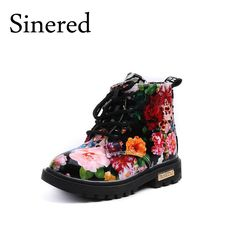 Cool Sinered 2017 New children's floral martin boots boys girls leather Martin boots baby toddler shoes kids fashion boots size21-30 - $ - Buy it Now!