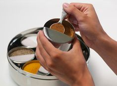 Want!    -  Indian cookery: The Spice Tiffin (masala dabba) spice and seasoning container