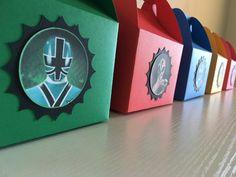 Power rangers samurai favor boxes 10pc by Decorationsbybelle