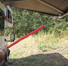"Use swimming ""noodles"" to protect bumping into Awning struts, tent ropes, overhangs."
