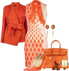 !! Great jacket..... orange Sunday brunch fashion