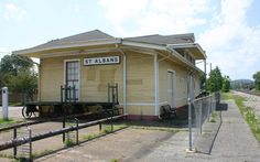 The historic C&O Depot in St. Albans, West Virginia is a great location to railfan CSX.