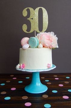 Topper gâteau trente topper gâteau 30e topper par CelebratedMoment