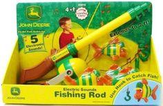 Amazon.com: John Deere - Electronic Fishing Pole: Toys & Games