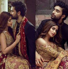 Sajal and Ahad ❤❤❤❤❤ Indian Photoshoot, Couple Photoshoot Poses, Bridal Photoshoot, Wedding Couple Pictures, Wedding Pics, Wedding Couples, Indian Wedding Bride, Indian Wedding Outfits, Wedding Couple Poses Photography