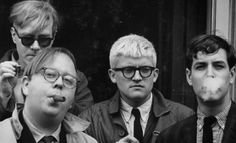 "Andy Warhol, Henry Geldzahler, David Hockney, and Jeff Goodman, 1963 - ""They cost me money but kept me alive:\"" Dennis Hopper's photographs..."