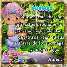 Bellos Gif Religiosos para Ti: Te alabo mi Dios por tu fidelidad, estás a mi lado...