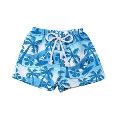 Sailing Away Palm Tree Drawstring Shorts from kidspetite.com!  Adorable & affordable baby, toddler & kids clothing. Shop from one of the best providers of children apparel at Kids Petite. FREE Worldwide Shipping to over 230+ countries ✈️  www.kidspetite.com  #shorts #clothing #girl #toddler Toddler Beach, Toddler Swimming, Beach Kids, Toddler Boys, Baby Boys, Bathing Suit Shorts, Swim Shorts, Girl Shorts, Baby Boy Swimwear