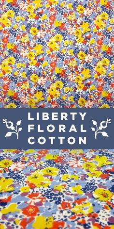 Liberty of London Colorful Silk Cotton Voile with Floral Print