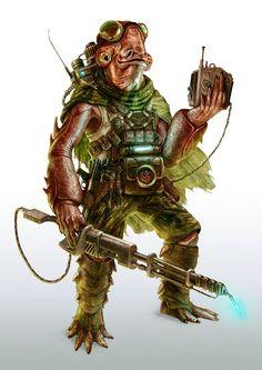 'Mon Calamari Engineer' (FFG STAR WARS RPG) by Mike Nash