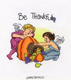 Title  Be Thankful  Artist  Sarah Batalka  Medium  Drawing - Colored Pencil And Black Sharpie On Paper
