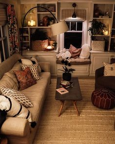 Home Interior Design — This Country Home Magazine post gives me all the. Cozy Living Rooms, Home Living Room, Apartment Living, Living Room Decor, Living Spaces, Tiny Living, Apartment Interior, Coastal Living, Modern Living