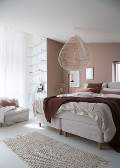 My dream bedroom update: Sandö bed from the Swedish brand Carpe Diem . - My dream bedroom update: Sandö bed from the Swedish brand Carpe Diem … - Pink Bedroom Decor, Cozy Bedroom, Dream Bedroom, Modern Bedroom, Living Room Decor, Swedish Bedroom, Master Bedroom, Bedroom Ideas, Brown Bedroom Walls
