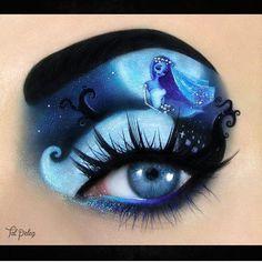 Corpse Bride Eye Makeup Make Up And Cosplays Makeup Disney Eye - Halloween Makeup Bride Eye Makeup, Disney Eye Makeup, Makeup Eye Looks, Eye Makeup Art, Colorful Eye Makeup, Crazy Makeup, Eye Art, Cute Makeup, Emo Makeup