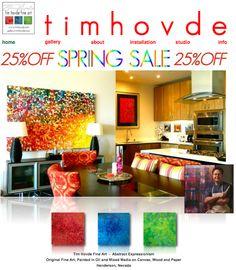 Enjoy Las Vegas Fine Artist Tim Hovde's SPRING SALE! http://www.timhovde.com/TimHovde/tim_hovde.html #timhovdefineart #designer art #fineart #sale