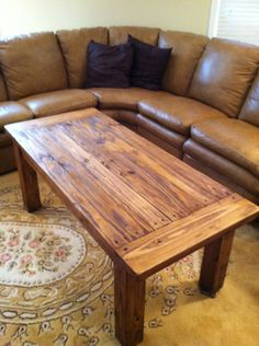 Rustic Coffee Table. To possibly replace the evil coffee table that attacks me all the time...