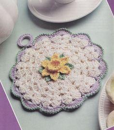 Daffodil Potholder Crochet Pattern