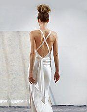 Crisscross Strap Body-Con Satin Sheath Dress