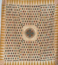 Mariner's Compass Coverlet - Mary Dennis 1820-29, Devonshire