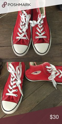 🇺🇸Red converse Gently worn, no damages Converse Shoes