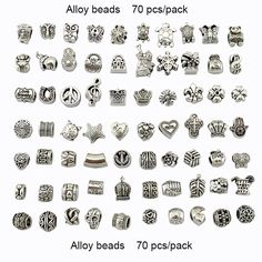 23PCS 925 sterling silver DIY thread Murano Glass Beads Charms fit Europe pandora Bracelets Fashion accessories for diy jewelry-in Beads from Jewelry on Aliexpress.com | Alibaba Group