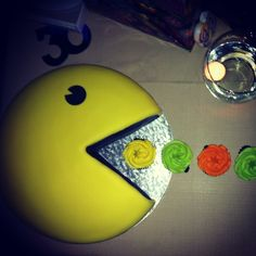 A Throwback,  80s themed 30th birthday bash in 2014, complete with lumo attire and a Pacman cake. It was a party of Don Johnsons and legwarmers, totally 80s!! Birthday Party Venues, Birthday Bash, Birthday Celebration, Birthday Parties, Birthday Ideas, 80s Theme, Don Johnson, Anniversary Parties, Party Themes