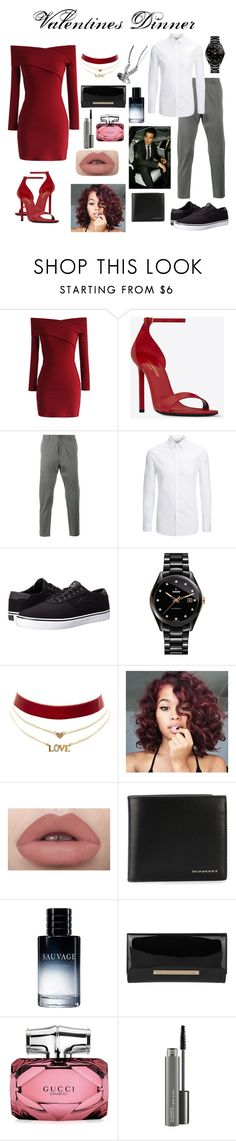 """""""Valentines Day"""" by shababy0403 ❤ liked on Polyvore featuring Chicwish, Yves Saint Laurent, Lot78, Joseph, Lakai, Rado, Charlotte Russe, Burberry, Christian Dior and Jimmy Choo"""