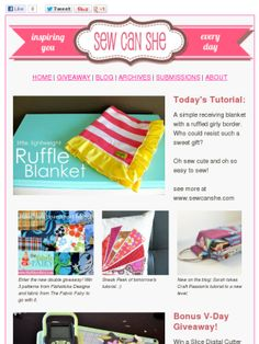 Check out this Mad Mimi newsletter Ruffle Blanket, Receiving Blankets, Mad, Simple, Sewing Ideas, Check, Blog, Inspiration, Quilts
