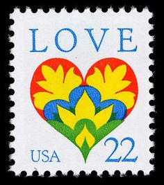 The design of this 1987 Love stamp was unveiled during a New Year's Eve celebration at the Pavilion at the Old Post Office in Washington, DC. As midnight drew near, a giant reproduction of the stamp design began its descent from the top of the Pavilion's clock tower. The event marked the fourth consecutive unveiling of a Love stamp at that site to signal the arrival of New Year in the nation's capital.
