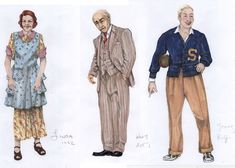 Death of a Salesman — Jessica Ford Sound Design, Set Design, Ford Lighting, Costume Design Sketch, Death, Costumes, Projects, Character, Image