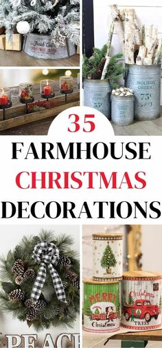 Farmhouse Christmas Decorations - Farmhouse Style Holiday Decor