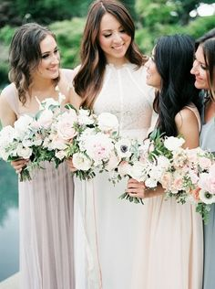 Beautiful bridesmaids: http://www.stylemepretty.com/2015/05/28/dallas-spring-garden-elopement/ | Photography: Tracy Enoch - http://www.tracyenoch.com/