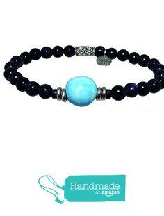 Bracciale elastico in Argento 925‰, pietra di Luna blu 6mm e Ceramica mm 14 da LOOK GIOIELLI https://www.amazon.it/dp/B0716T9B31/ref=hnd_sw_r_pi_dp_MUGfzbCZBGQMM #handmadeatamazon